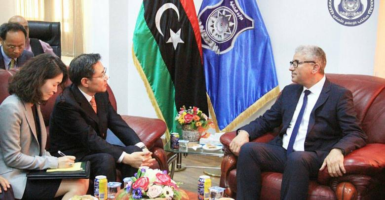 وزير الداخلية المفوض في حكومة الوفاق فتحي باشاغا - نائب وزير شؤون الكوريين الجنوبيين بالخارج