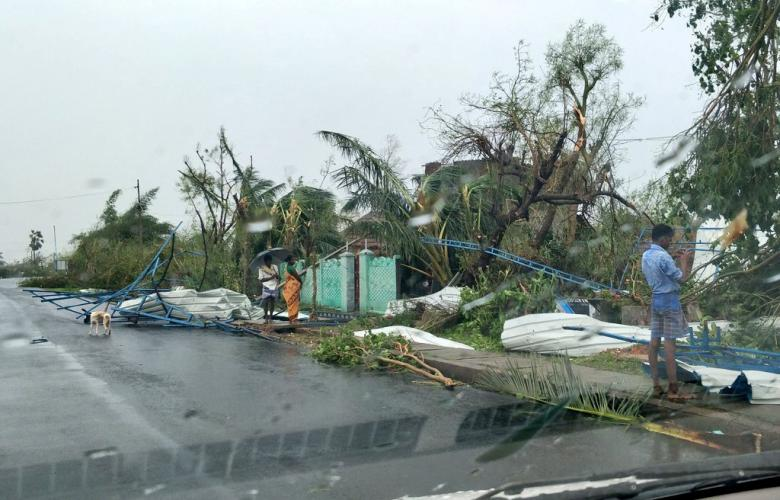 أضرار إعصار الهند