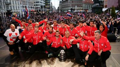 Photo of الكروات يرقصون احتفالاً بأبطال كأس ديفيز