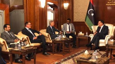اجتماع فائز السراج ورئيس لجنة العقوبات بمجلس الأمن اولوف سكوغ - طرابلس