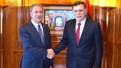 لقاء فائز السراج ووزير الدفاع التركي خلوصي أكار