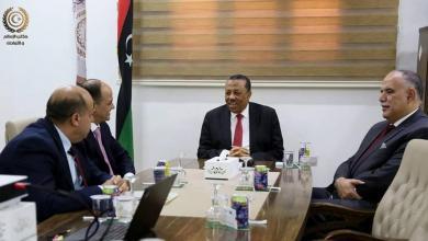 اجتماع عبدالله الثني وإبراهيم بوشناف مع الوفد الأردني - قرنادة