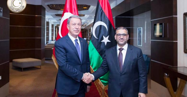 لقاء خالد المشري ووزير الدفاع الوطني التركي خلوصي أكار
