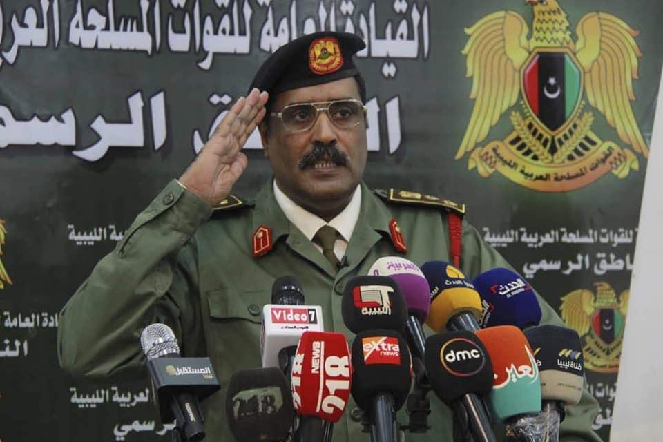 الناطق باسم الجيش الوطني العميد أحمد المسماري