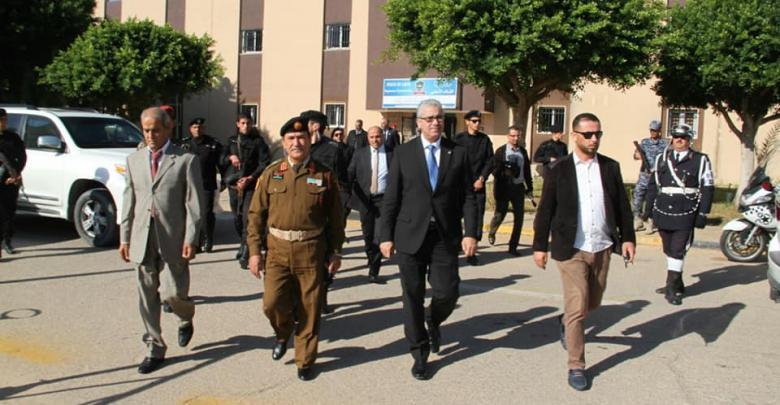 وزير الداخلية فتحي باشاغا يزور عمليات طرابلس الكبرى