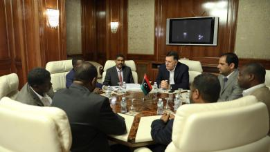 اجتماع فائز السراج وأحمد حمزة وناجي مختار وأبو صلاح شلبي ومحمد آدم وحسن حبيب
