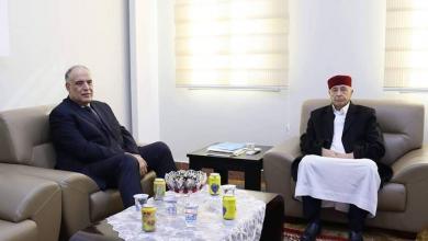 لقاء رئيس مجلس النواب المستشار عقيلة صالح مع وزير الداخلية بالحكومة المؤقتة إبراهيم بوشناف