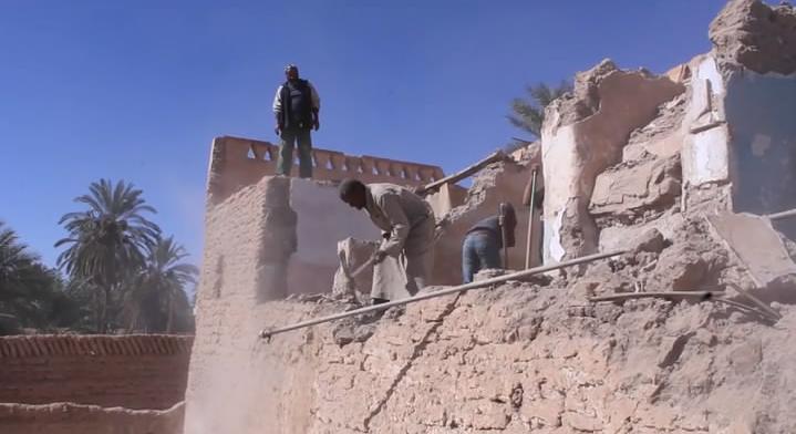أعمال صيانة وترميم المباني والمساكن القديمة - غدامس