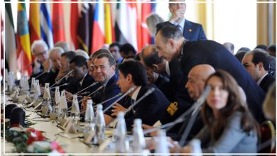 رئيس الوزراء دميتري ميدفيديف يحضر اليوم الثاني للمؤتمر الدولي حول ليبيا في باليرمو ، إيطاليا ، 13 نوفمبر ، 2018.