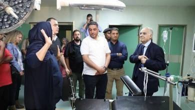 زيارة غشان سلامة لمستشفى الجلاء - طرابلس