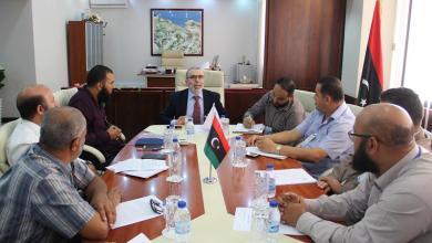 اجتماع مصطفى صنع الله مع ممثلين عن شركة مليته للنفط والغاز - طرابلس