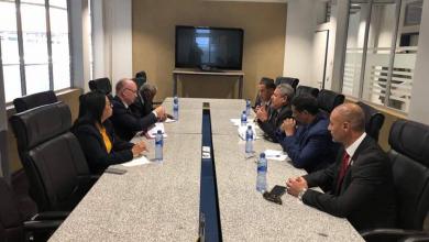 الوفد الليبي المكلف بزيارة الاتحاد الأفريقي في أديس أبابا