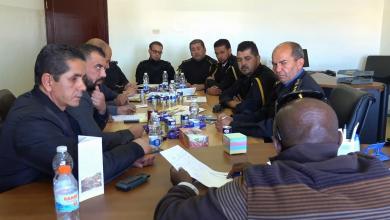 اجتماع ادارات الحرس البلدي ومركز الرقابة على الاغدية - زوارة