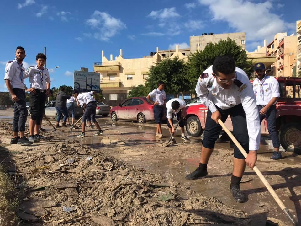 الكشاف يلبون نداء الواجب في بنغازي