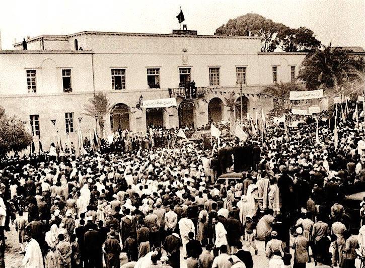 لحظة اعلان الملك ادريس استقلال ليبيا