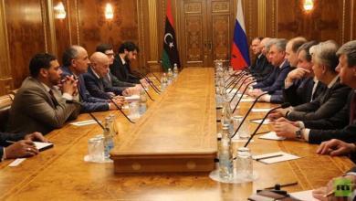 لقاء عقيلة صالح برئيس مجلس الدومة الروسي