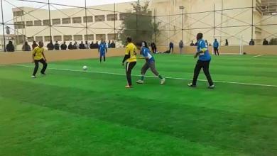 مباراة بين فريقي الجامعة - واتحاد الشرطة - سبها