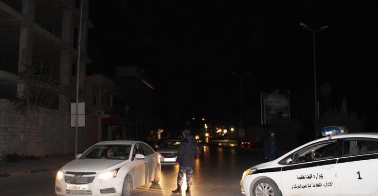 جانب من التمركزات الأمنية في العاصمة طرابلس
