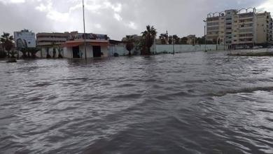 صورة تطورات ليلة أمطار وسيول بنغازي