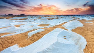 """صورة """"الصحراء البيضاء"""".. الأعجوبة """"السرية"""" وأرض الثلوج الساخنة!"""