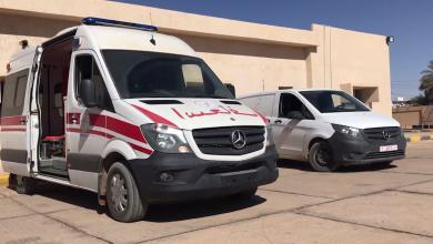 استلام مكتب الإسعاف بمدينة القطرون سيارتي إسعاف