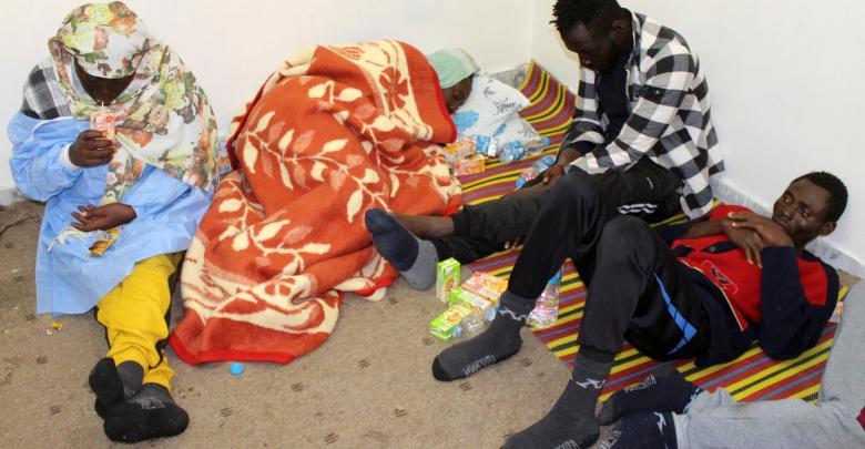 مجموعة من المهاجرين - رويترز