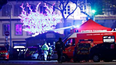 الشرطة الفرنسية في مكان اطلاق النار بمدينة ستراسبورغ
