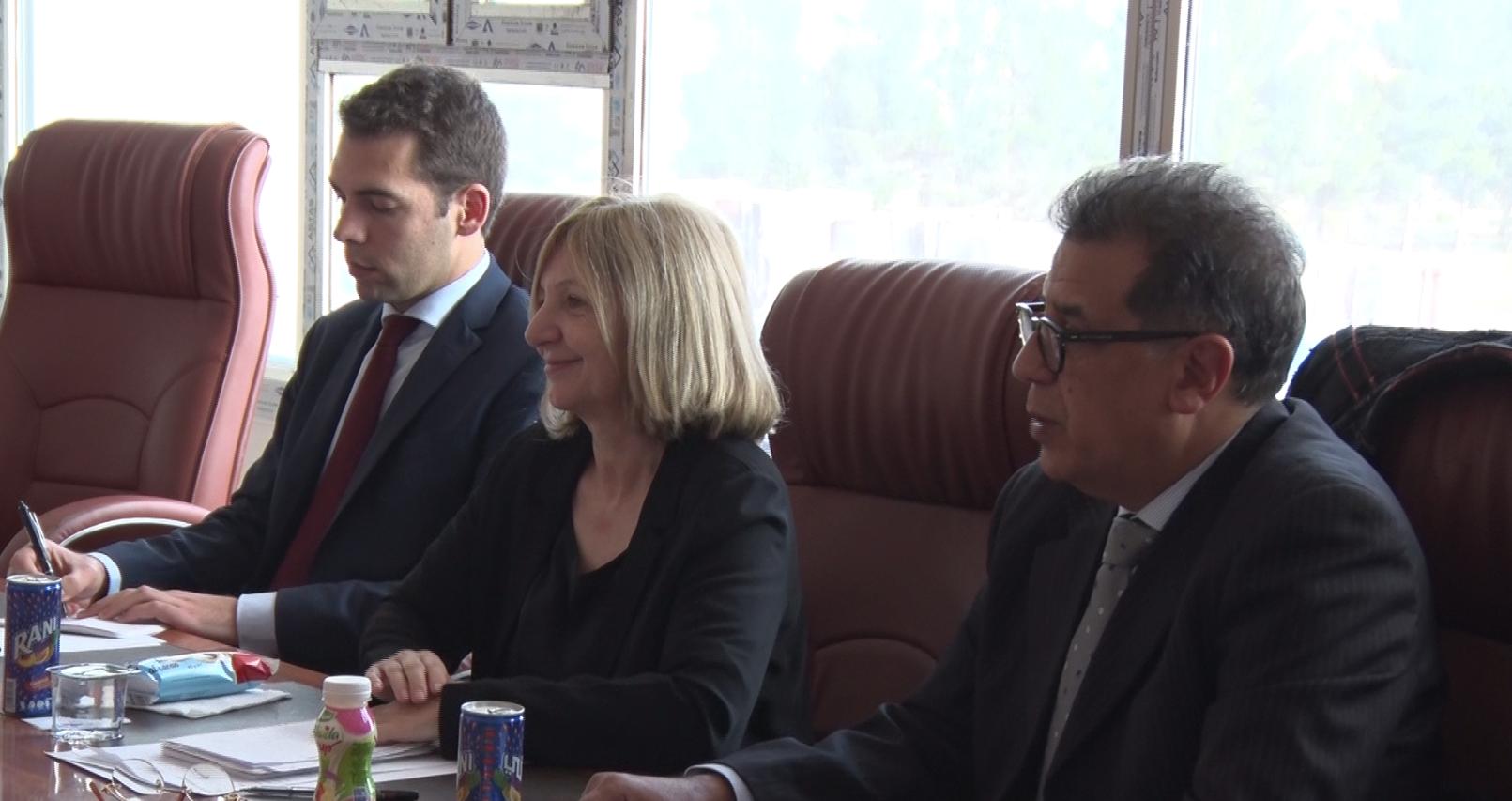 سفيرة فرنسا تلتقي أعضاء بلدية الزنتان