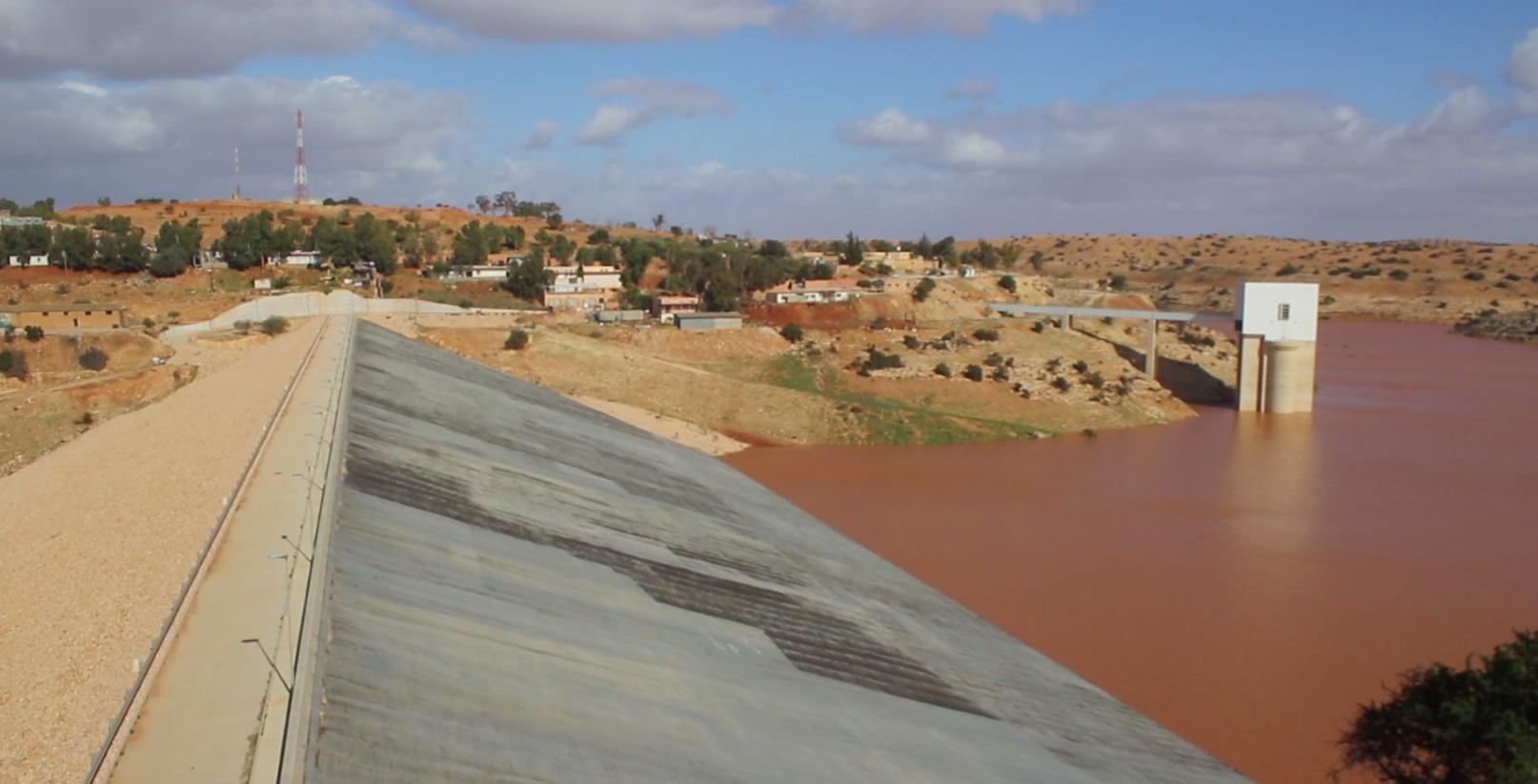 سد وادي القطارة - بنغازي