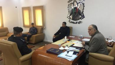 وزير الداخلية في الحكومة المؤقتة المستشار إبراهيم بوشناف