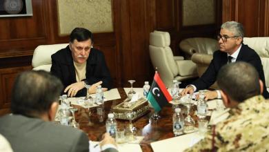اجتماع فائز السراج مع فتحي باشاغا وتاج الدين الرزاقي
