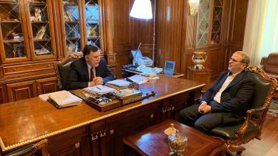 اجتماع فائز السراج مع مصطفى صنع الله - طرابلس