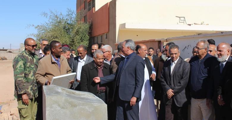 وضع حجر الأساس لعدد ثلاث مدارس إحداهن بمدينة الكفرة