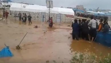 Photo of بالفيديو.. سيول جارفة تغمر مخيمات نازحين سوريين