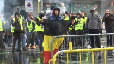 """مظاهرات """"السترات الصفراء"""" في بلجيكا"""
