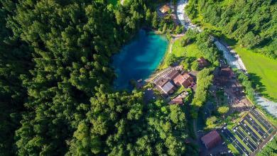 "Photo of ""البحيرة الزرقاء"" في سويسرا.. صنعتها دموع امرأة عاشقة!"