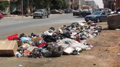 القمامة في شوارع بنغازي