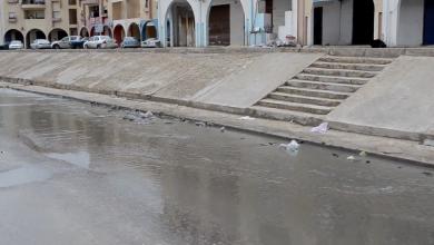 الأمطار تغرق الشوارع - طبرق