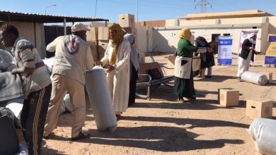 توزيع مساعدات إنسانية للأسر المحتاجة والمهاجرين - أوباري