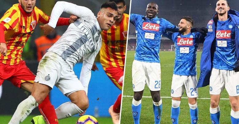 إنتر ميلانو ونابولي يبلغان ربع نهائي كأس إيطاليا