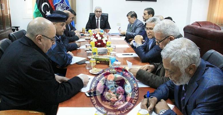 اجتماع أمني في مقر وزارة الداخلية - طرابلس