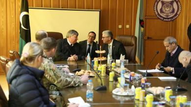 جانب من اجتماع فتحي باشاغا مع السفير الأميركي بيتر بودي