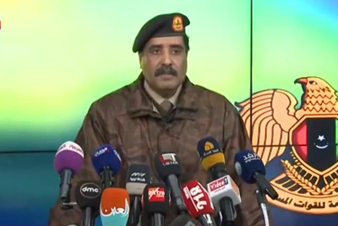 الناطق باسم القيادة العامة للجيش الوطني، العميد أحمد المسماري