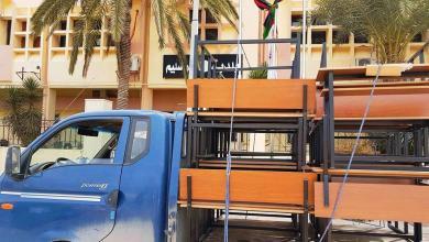 Photo of بلدية أبوسليم تشرع في توزيع المقاعد الدراسية