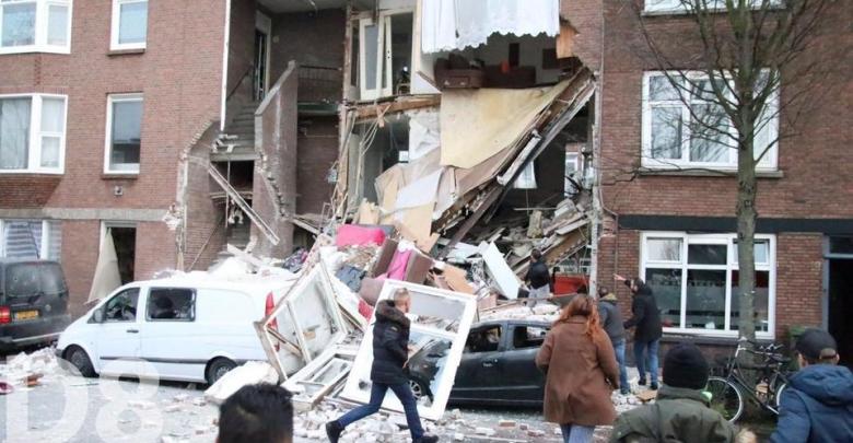 جانب من انفجار في لاهاي الهولندية