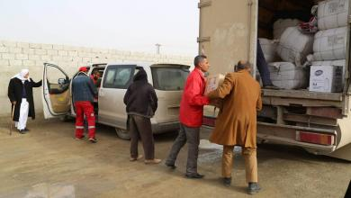 صورة إغاثة طارئة لمنطقة تمسة بالجنوب