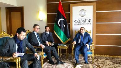 """Photo of المشري يبحث مع """"أوفكزا"""" تطورات المشهد الليبي"""