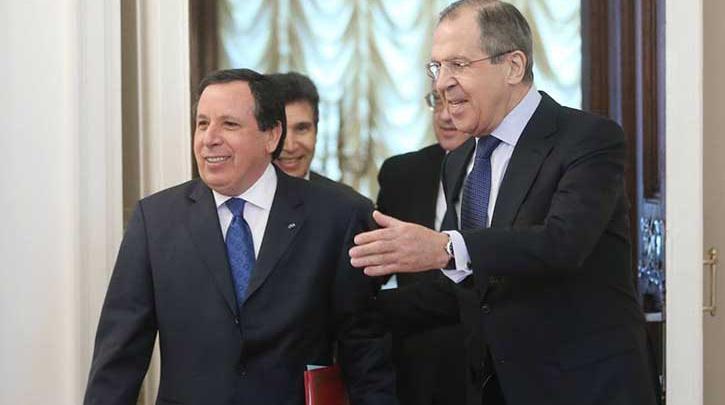 سيرغي لافروف، مع رئيس الحكومة التونسية يوسف الشاهد