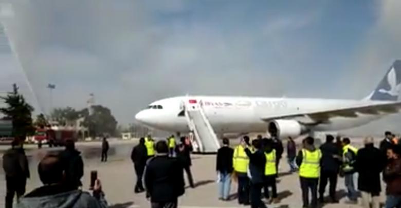 وصول طائرة الشحن A300 التابعة للخطوط الجوية الليبية - مطار بنينا