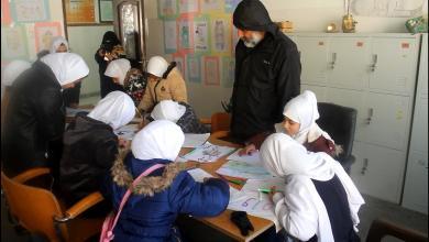 يوم مفتوح للرسم والتلوين للطلبة والطالبات بمدرسة طلائع النصر - سرت